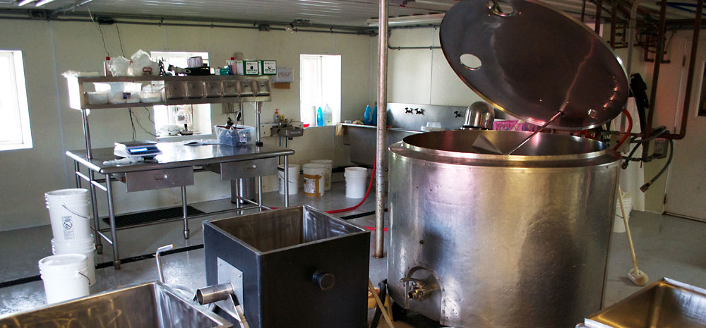 A view of our cheesemaking facility