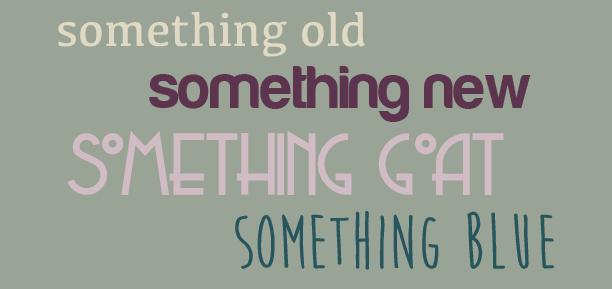 Something old, something new, something goat, and something blue