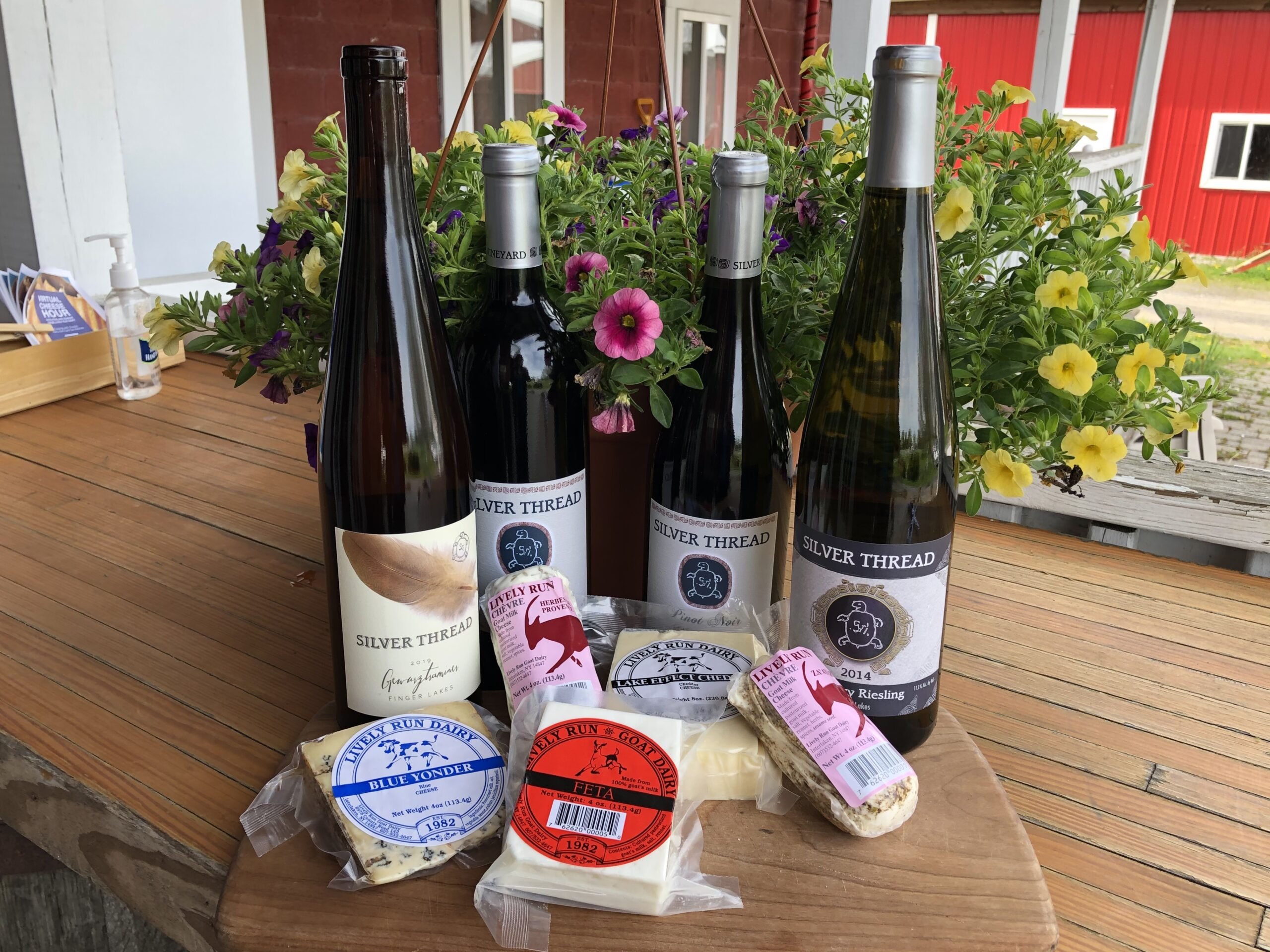Wine & Cheese Virtual Tasting with Silver Thread Vineyard