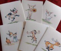 6 Fun Goat Cards